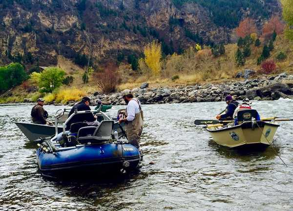 Fly fishing float trip on the Roaring Fork River